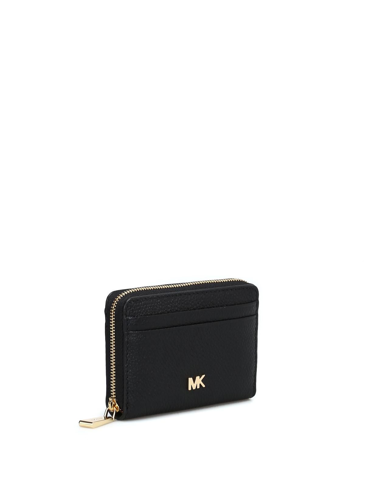 Michael Kors Money Pieces black card case wallets