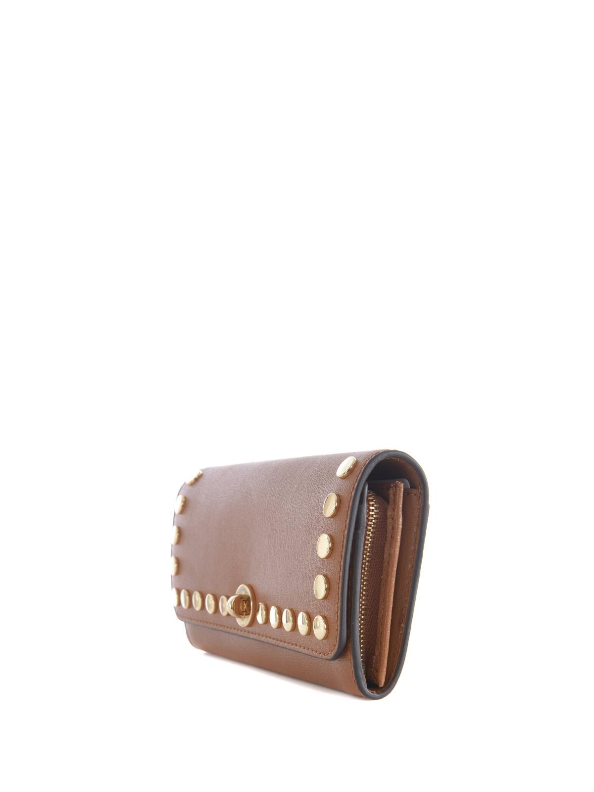 65fb559aaeb6 MICHAEL KORS: wallets & purses online - Rivington Stud leather flap wallet