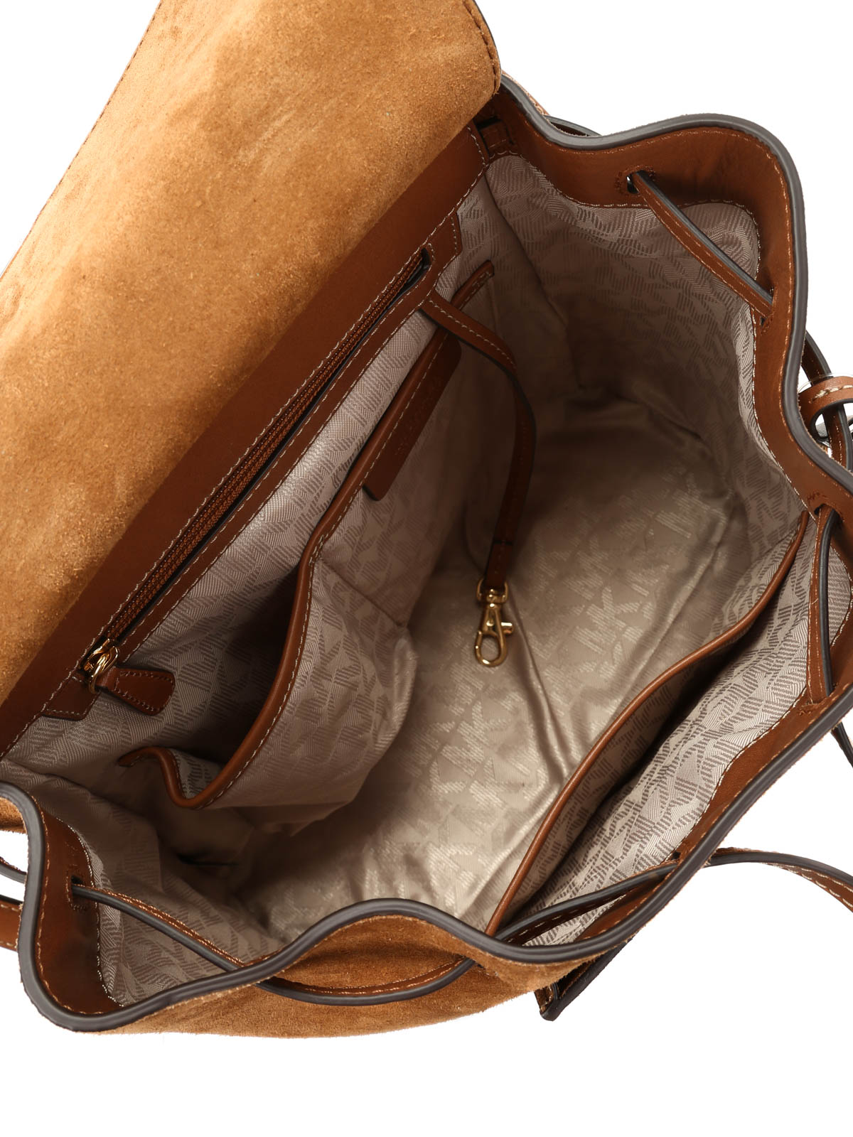 8f69219d3ed7 ... discount code for ikrix michael kors romy suede and leather backpack  9b253 7bbb8