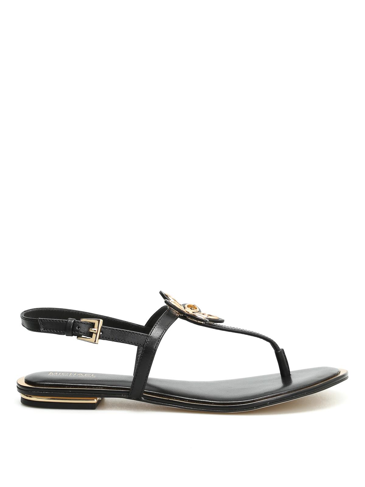 sandalen justine schwarz von michael kors sandalen ikrix. Black Bedroom Furniture Sets. Home Design Ideas