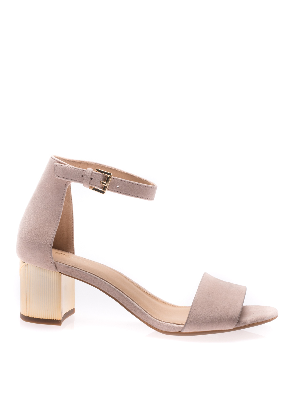 Paloma Flex gold heel pink sandals