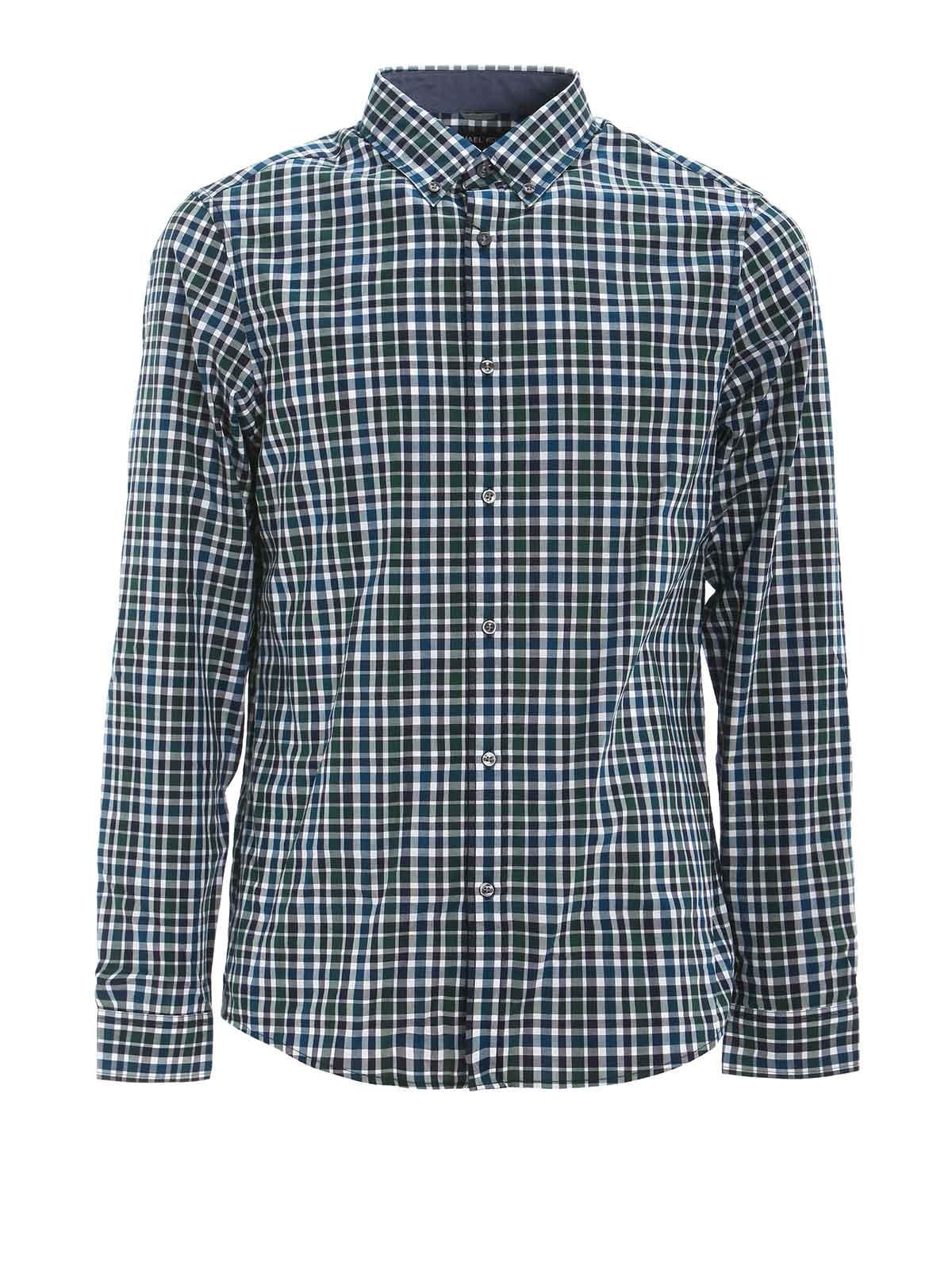 Slim fit check shirt by michael kors shirts ikrix for Slim fit check shirt
