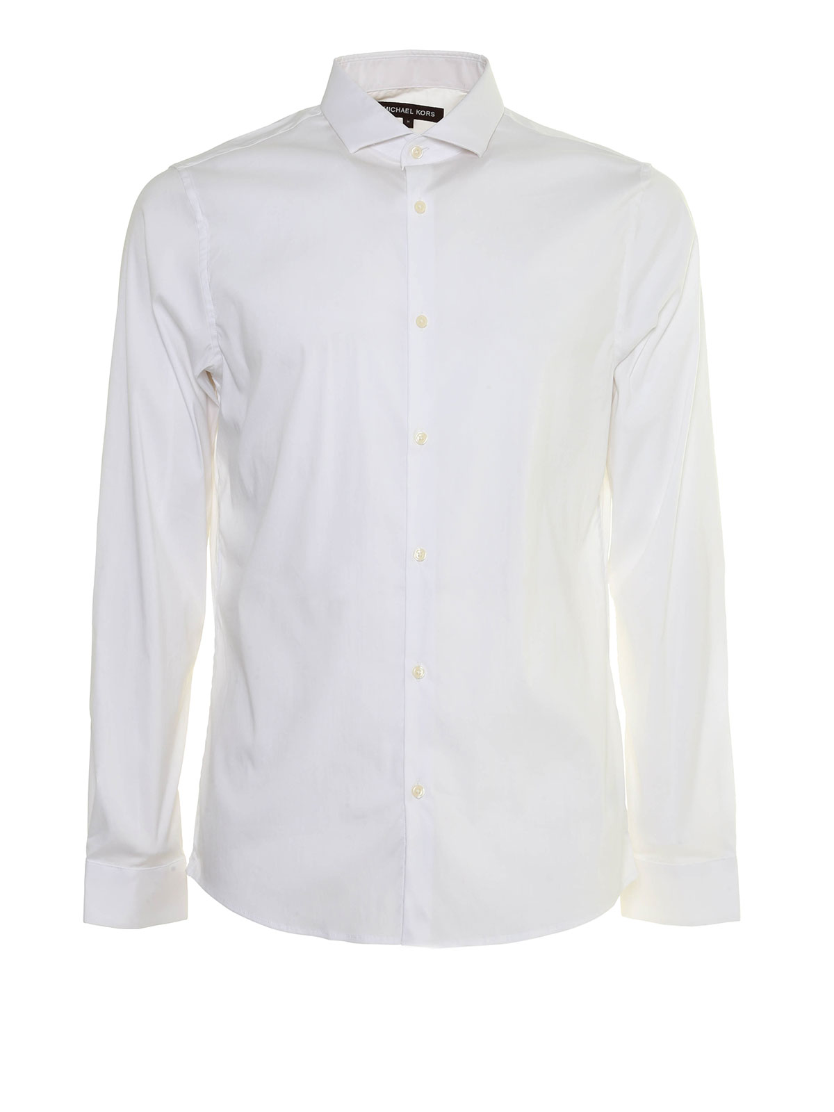 Slim fit cotton blend shirt by michael kors shirts ikrix for Slim fit cotton shirts