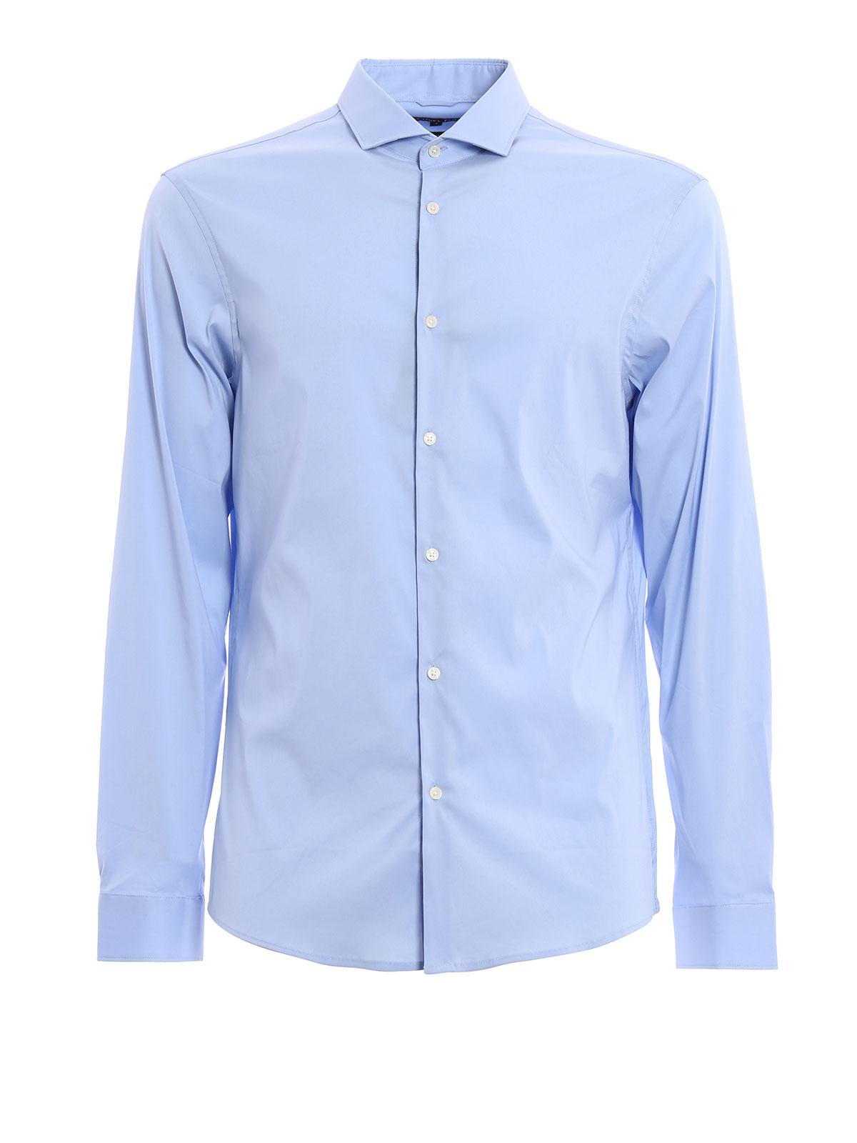 Stretch cotton slim fit shirt by michael kors shirts ikrix for Slim fit cotton shirts