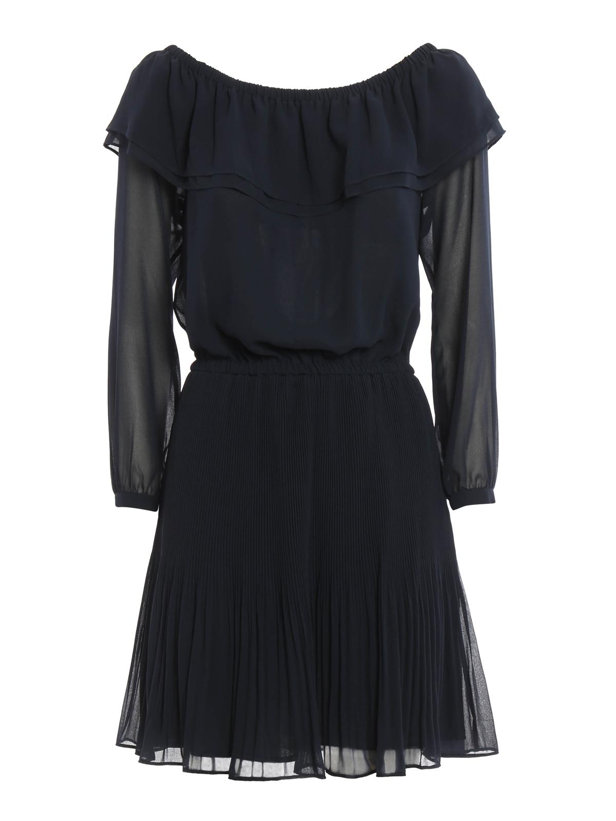 995c3b2d8 Michael Kors - Vestido Corto Azul Oscuro - Vestidos cortos ...