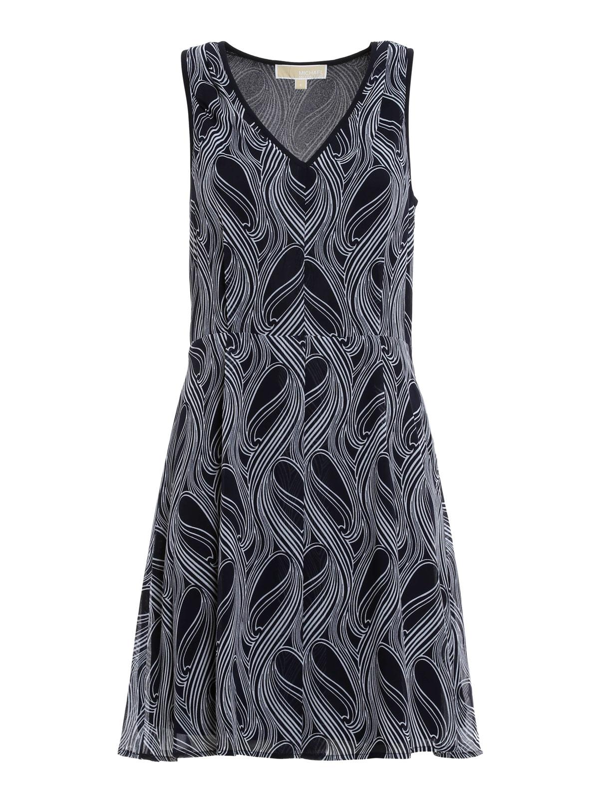 Patterned flared dress by michael kors short dresses ikrix for Short flared wedding dress