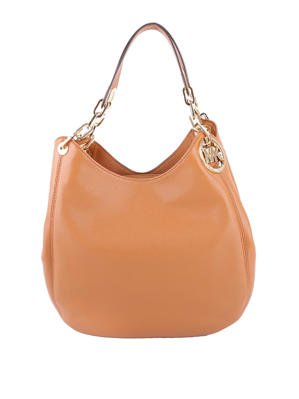 e3f38e9a75 Michael Kors - Fulton large acorn leather shoulder bag - shoulder ...