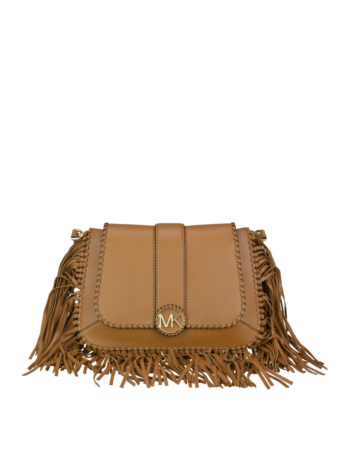 f80649aed150 Michael Kors - Lillie fringed leather saddle bag - shoulder bags ...