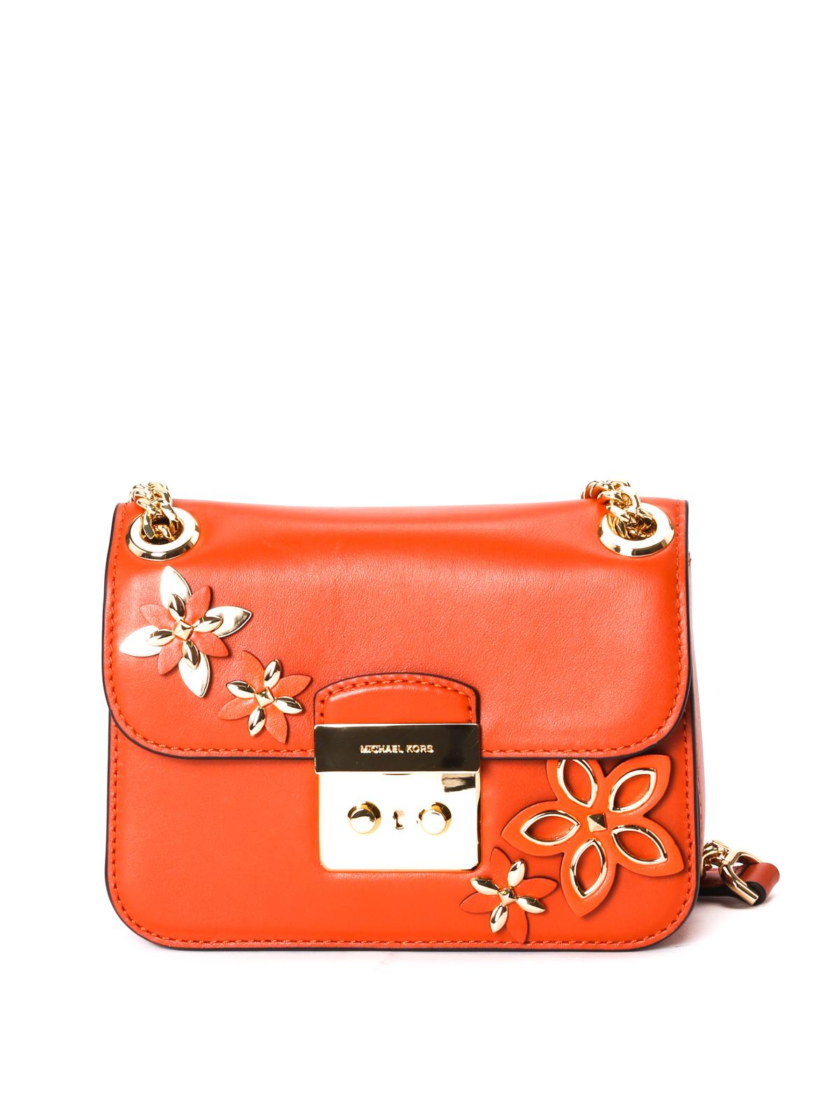 5b150fc1c6ef Michael Kors - Sloan flower appliqué small bag - shoulder bags ...