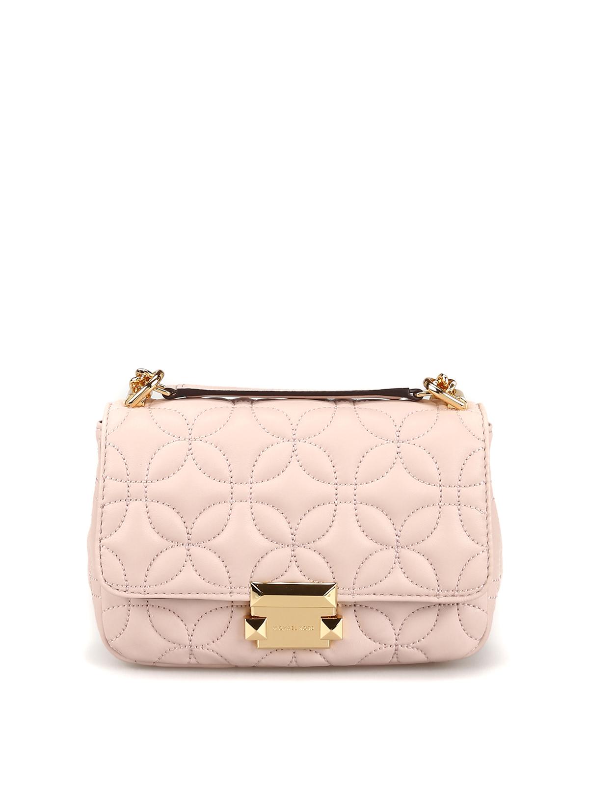 720c1437c66394 MICHAEL KORS: shoulder bags - Sloan soft pink matelassé leather small bag