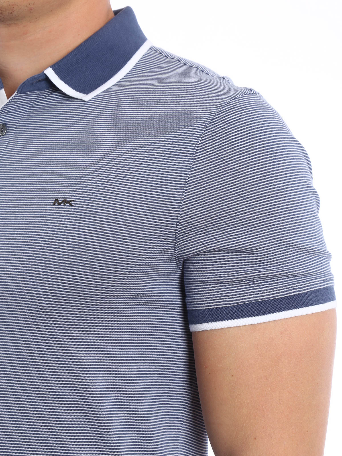8dce33b0d Michael Kors - Striped polo shirt - polo shirts - CS65FY21WV CHAMBRAY