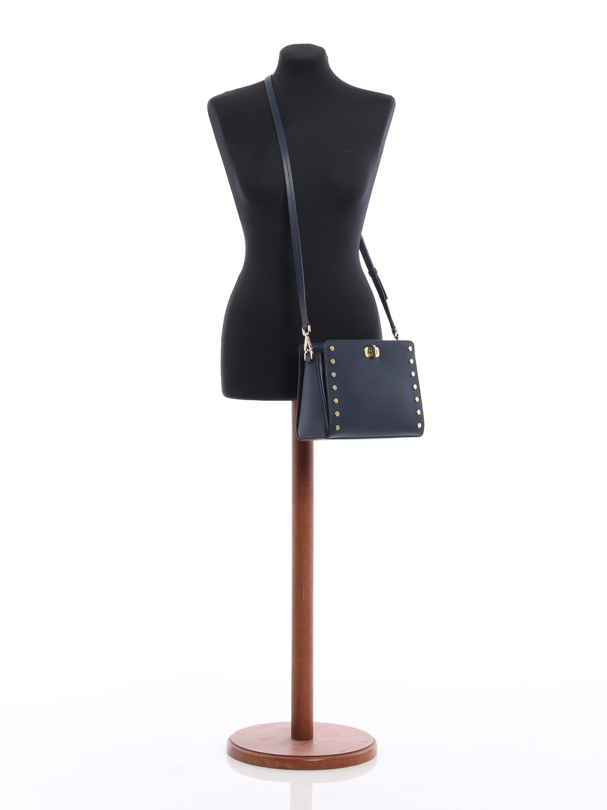 3d03a61134dc36 Michael Kors - Sylvie studded messenger bag - cross body bags ...