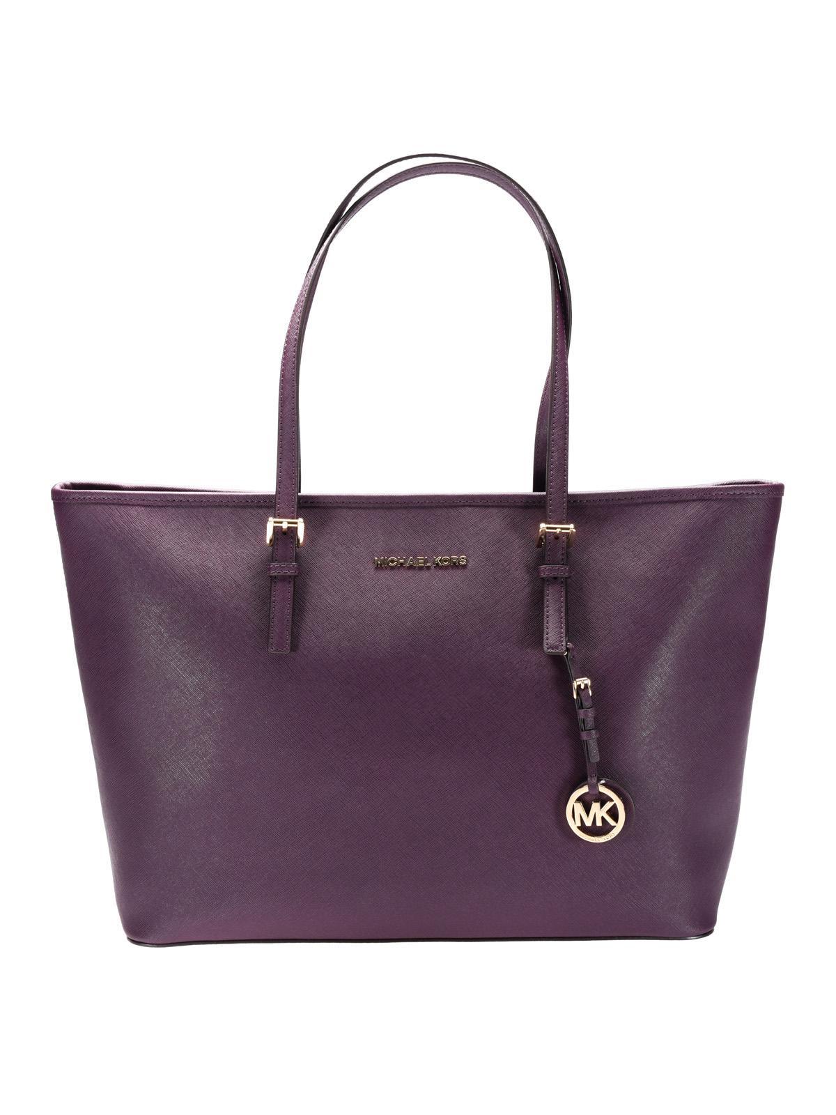 jet set travel purple tote by michael kors totes bags ikrix. Black Bedroom Furniture Sets. Home Design Ideas