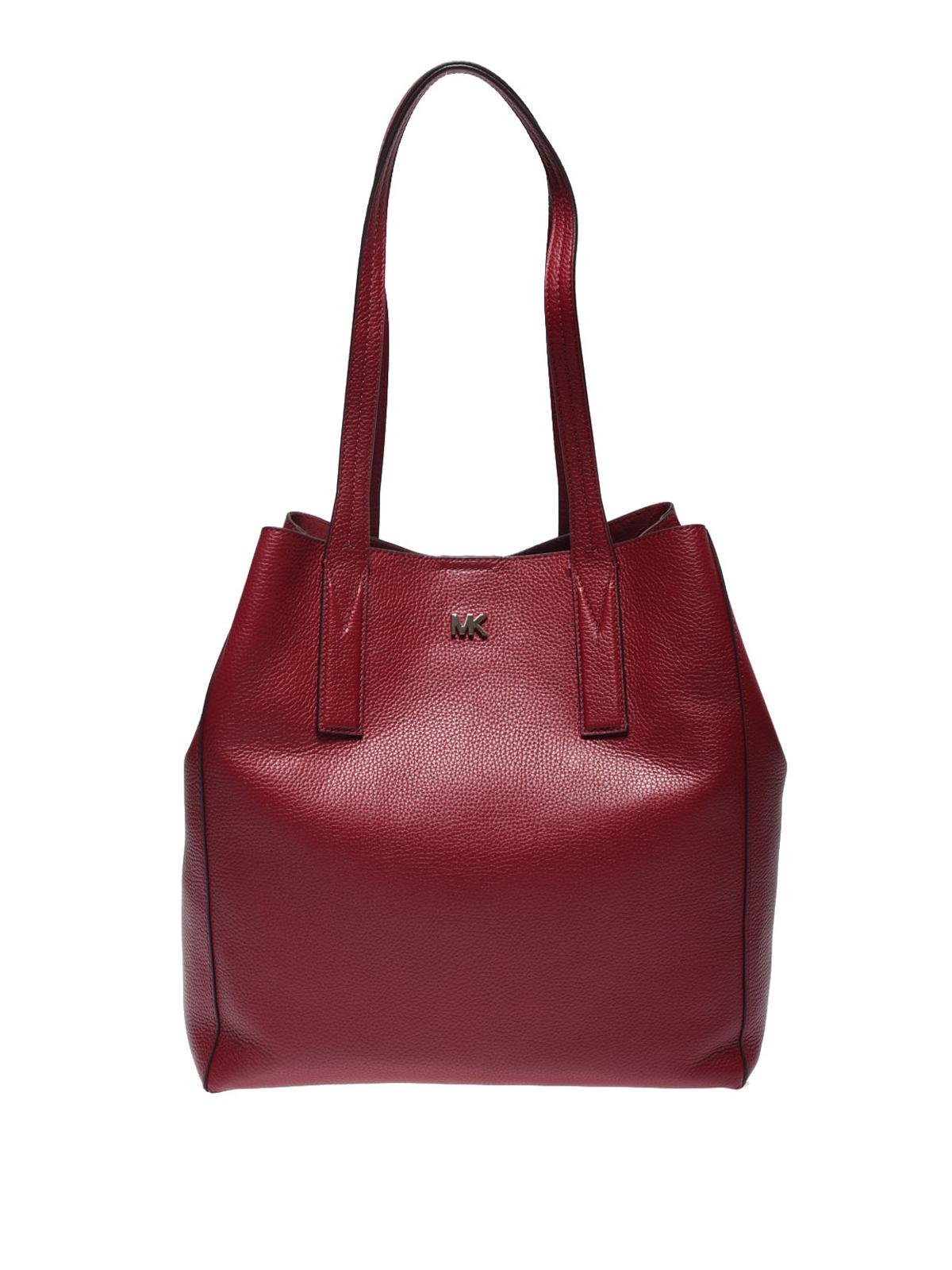9493861fae8801 Michael Kors - Junie maroon leather large tote - totes bags ...
