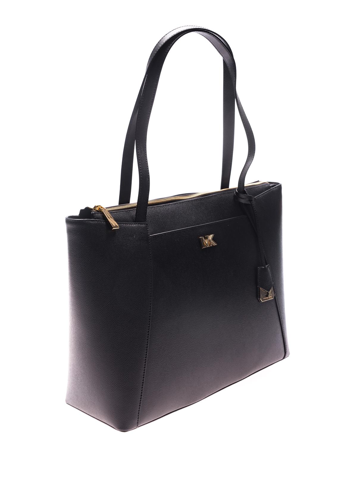 ce2eec01919617 Michael Kors Maddie Tote Black. Michael Kors Maddie Medium Crossgrain  Leather ...