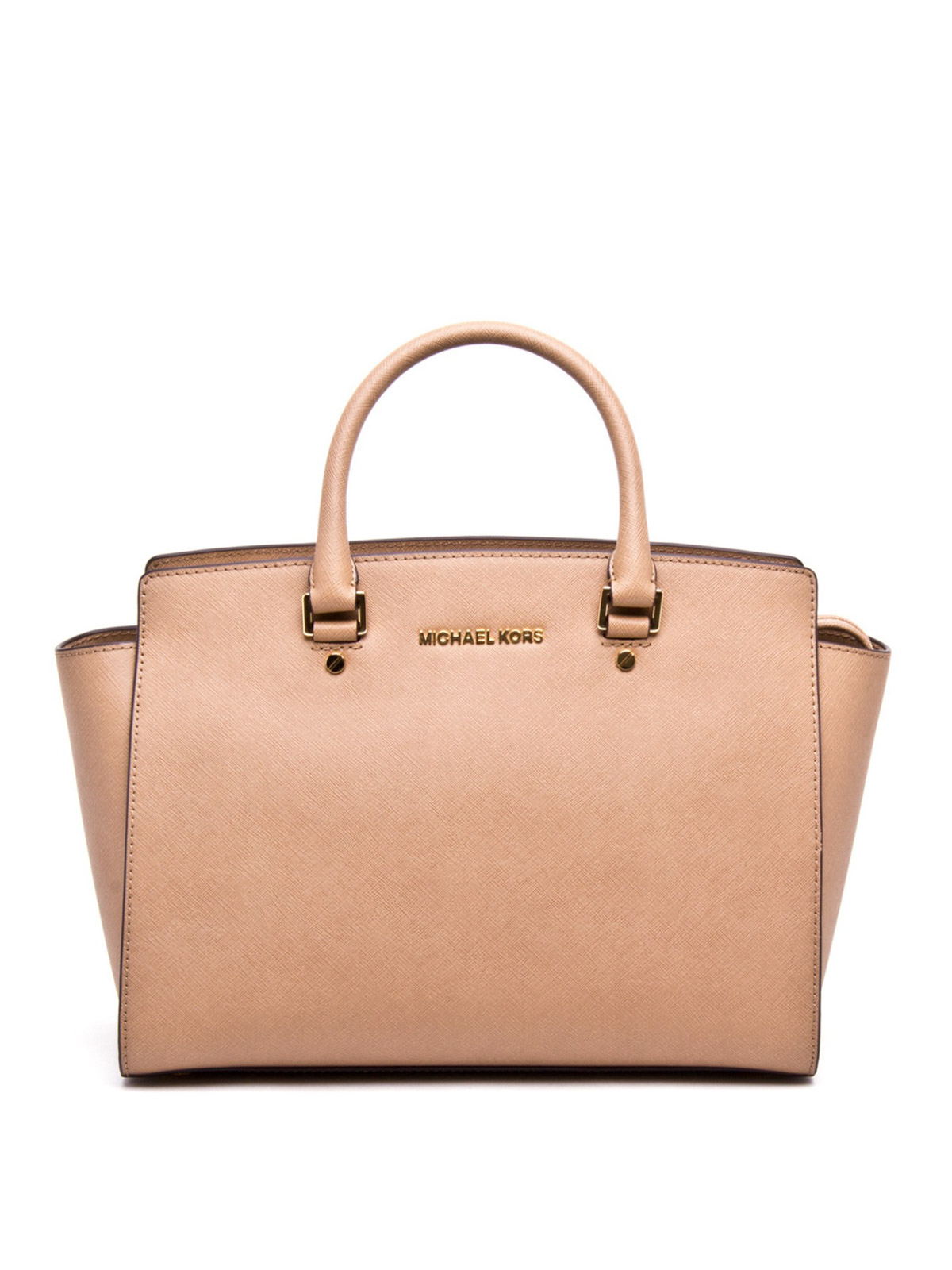 selma large leather tote by michael kors totes bags