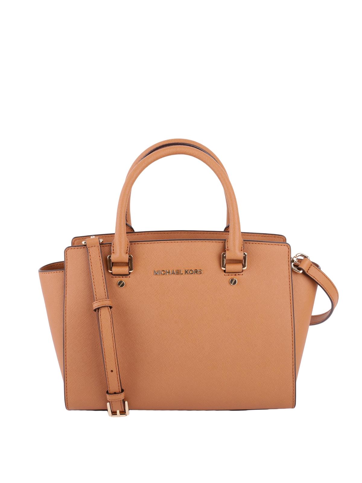 fe337517ec997d Michael Kors - Selma medium acorn saffiano top zip tote - totes bags -  30S3GLMS2L 203