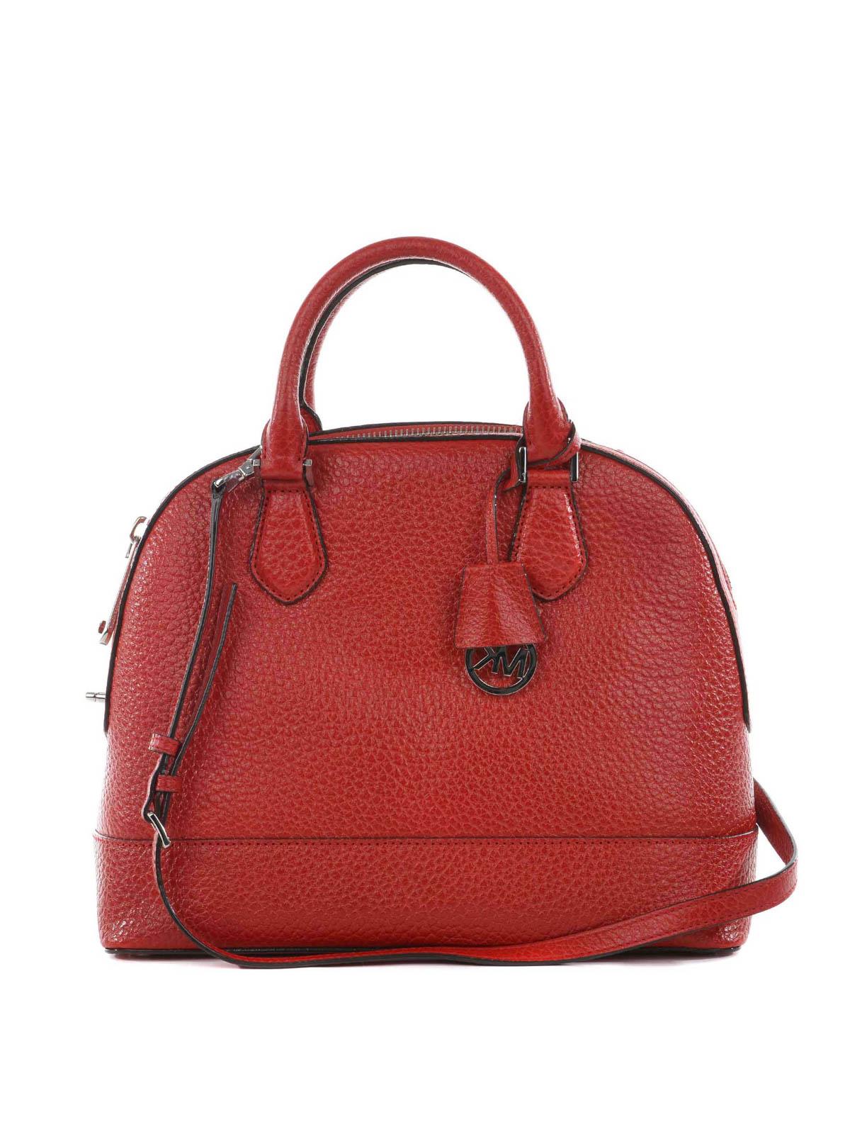 ed81b9875c82 Michael Kors - Smythe large leather handbag - totes bags ...