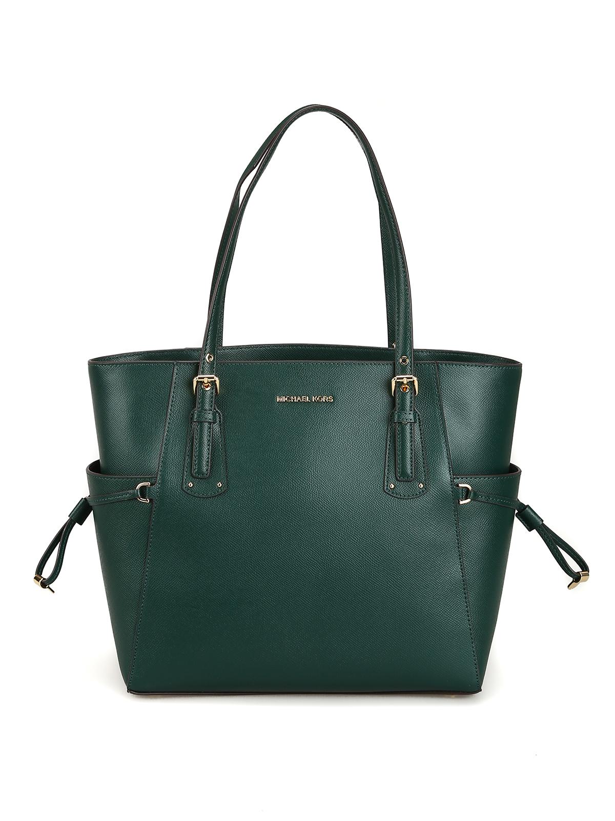 c20da686fa4d1f Michael Kors - Voyager S dark green grainy leather bag - totes bags ...