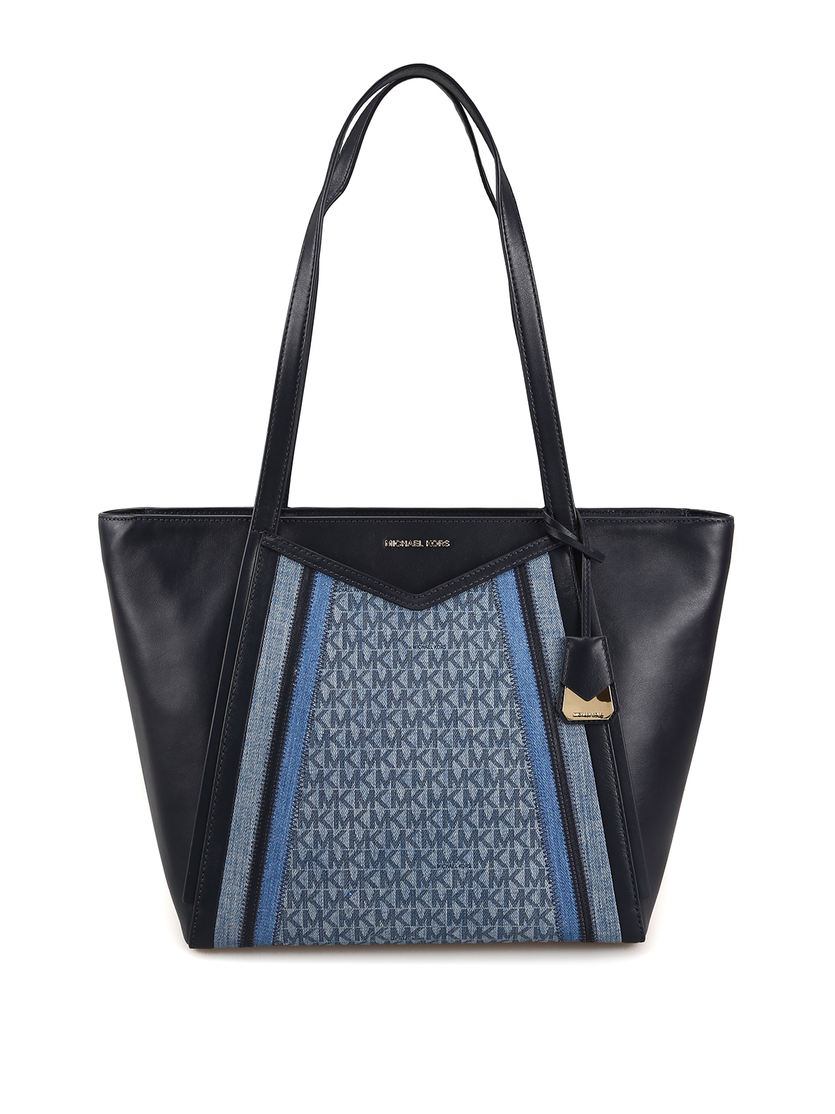 1a617a4747d0 Michael Kors - Whitney leather and denim large tote - totes bags ...