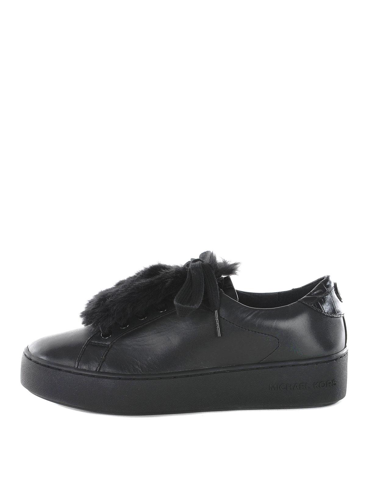 Kors Pelliccia Pelle Sneakers Con Sneaker Finta Michael 4RLq5A3j