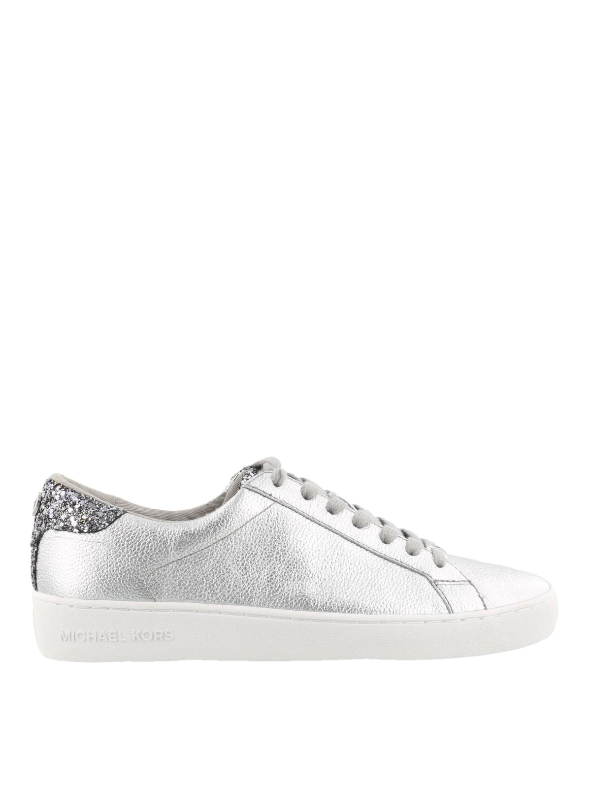 c0a02b6878ec Michael Kors - Irving glitter silver sneakers - trainers - 43R8IRFS1M040