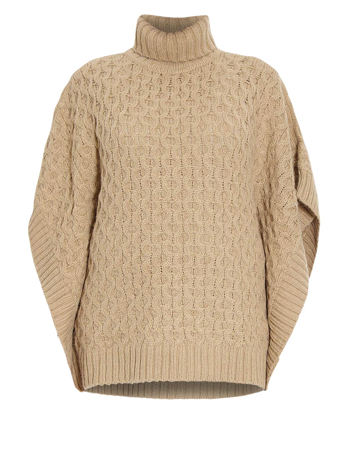 Knitting Ponchos : Alpaca blend knit poncho by michael kors turtlenecks