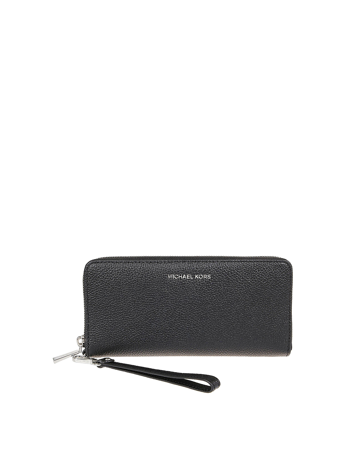 Michael Kors JET SET PEBBLED LEATHER CONTINENTAL WRISTLET