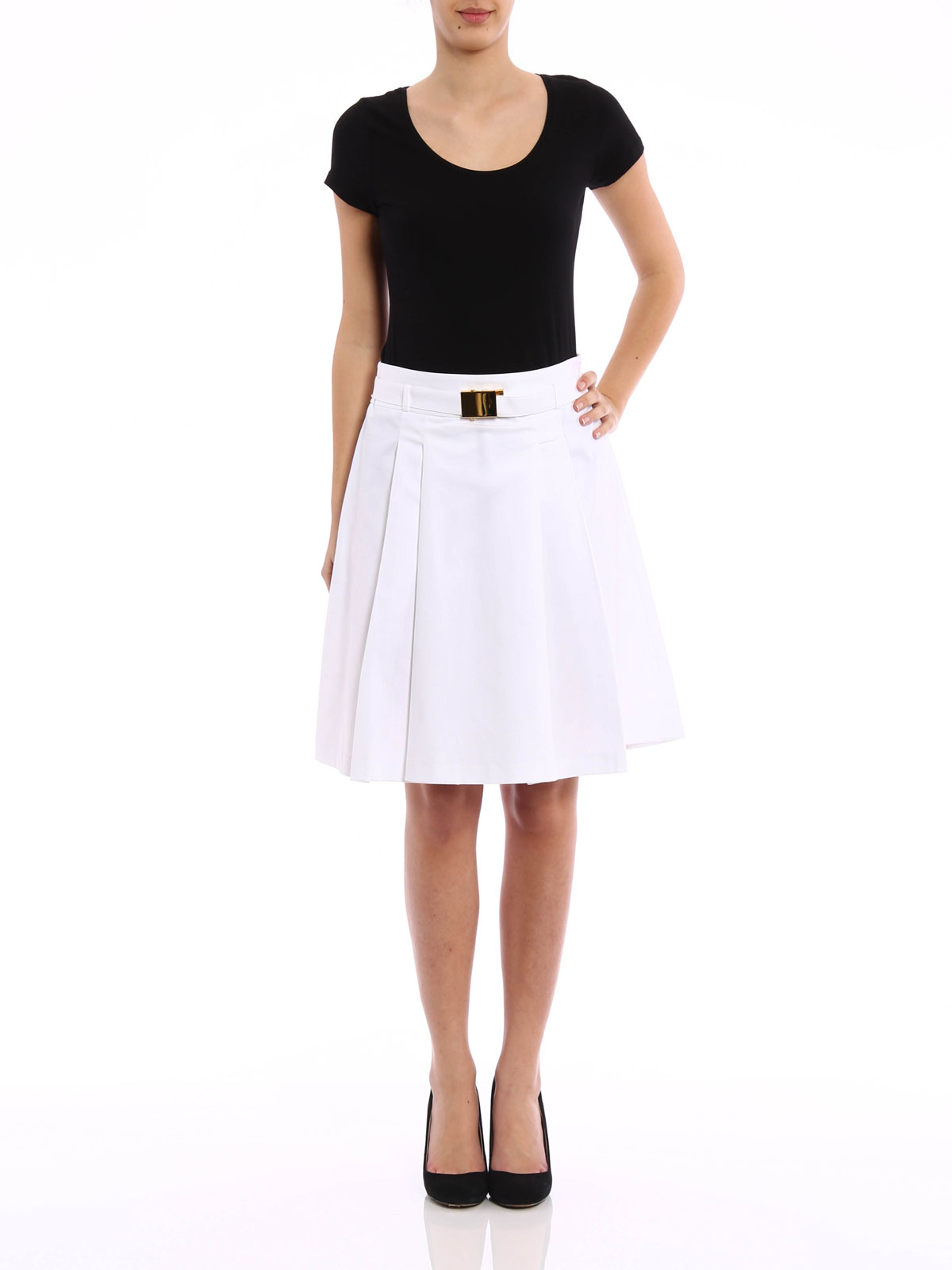 8f41af71460 Michael Michael Kors  Knee length skirts   Midi online - Stretch cotton pleated  skirt