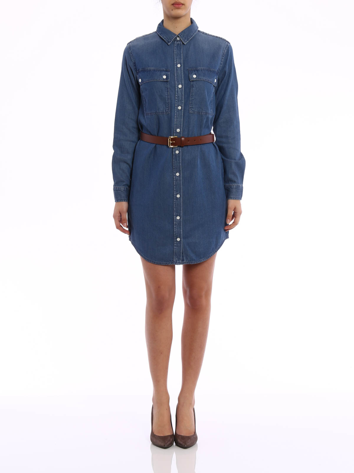 denim shirt dress by michael michael kors short dresses ikrix. Black Bedroom Furniture Sets. Home Design Ideas