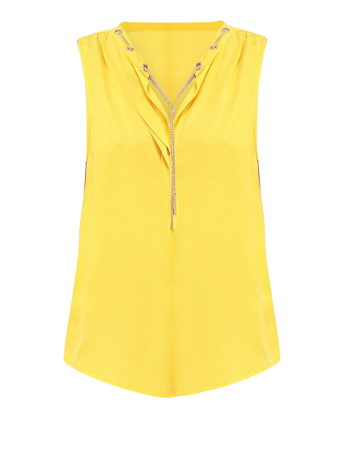 87ccb20c45ad9 Michael Michael Kors - Silk top with chain detail - Tops   Tank tops ...