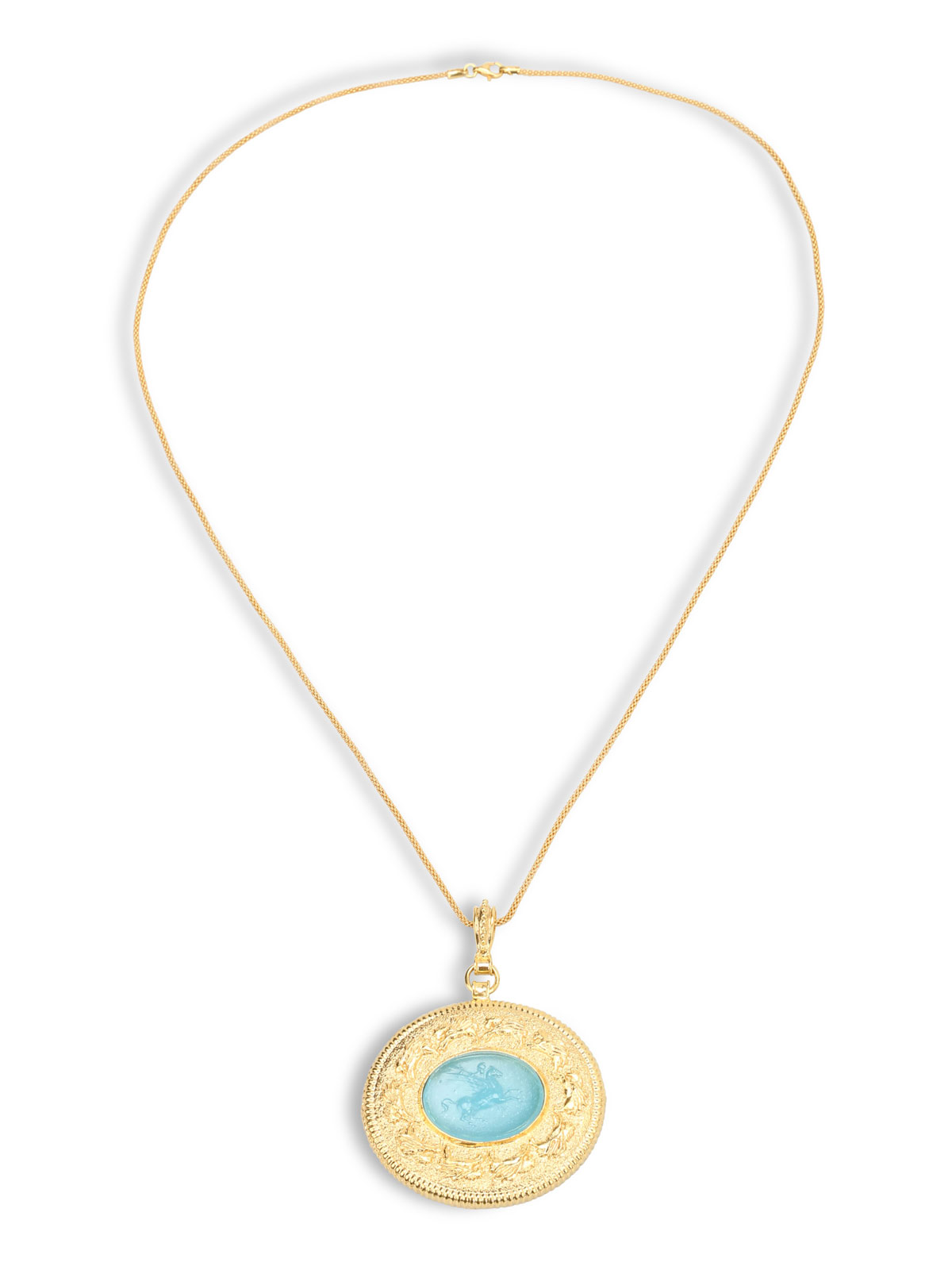 pendant eleuteri gold bulgari img intaglio collections
