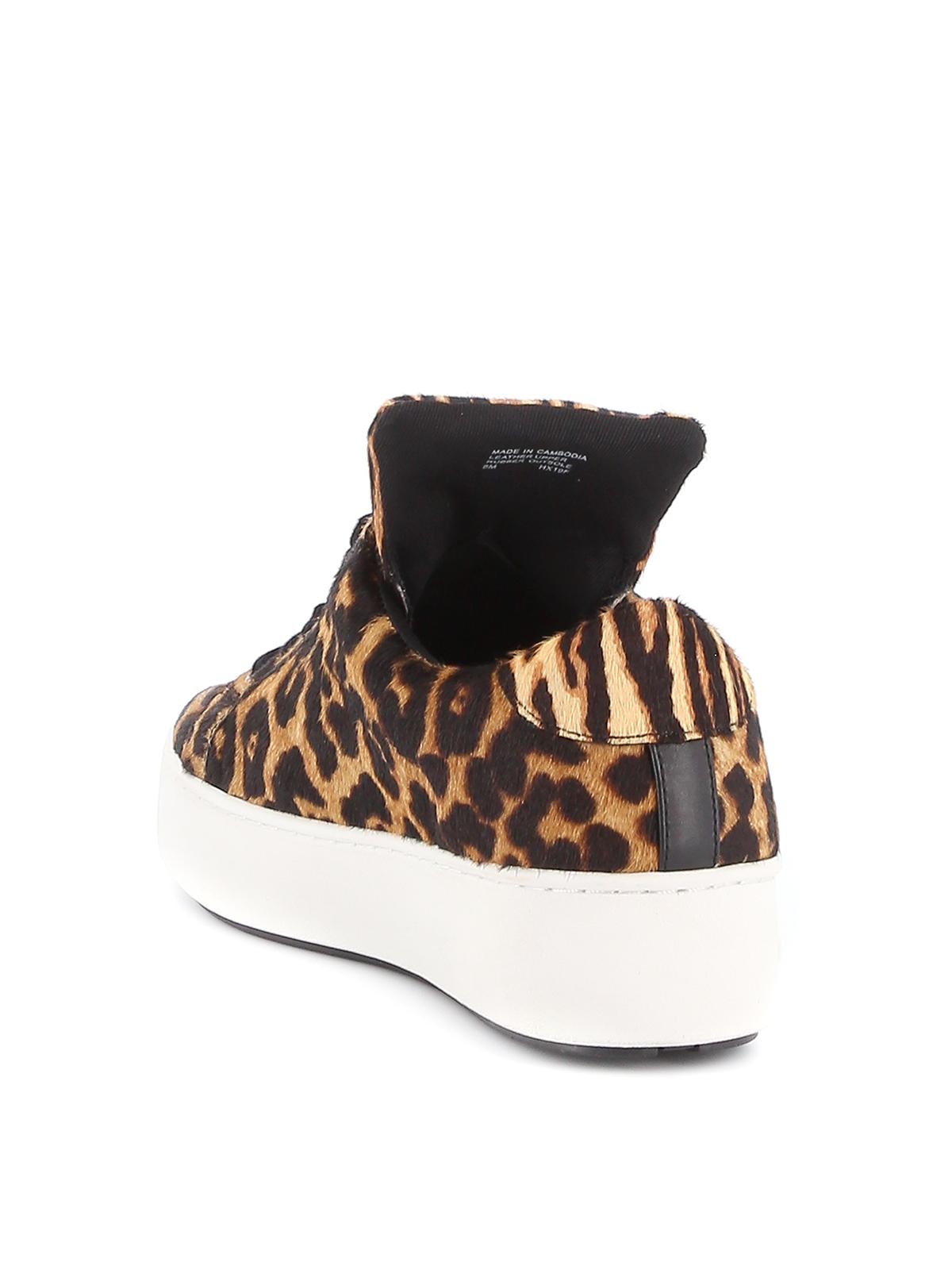 Mindy leopard print calf hair sneakers