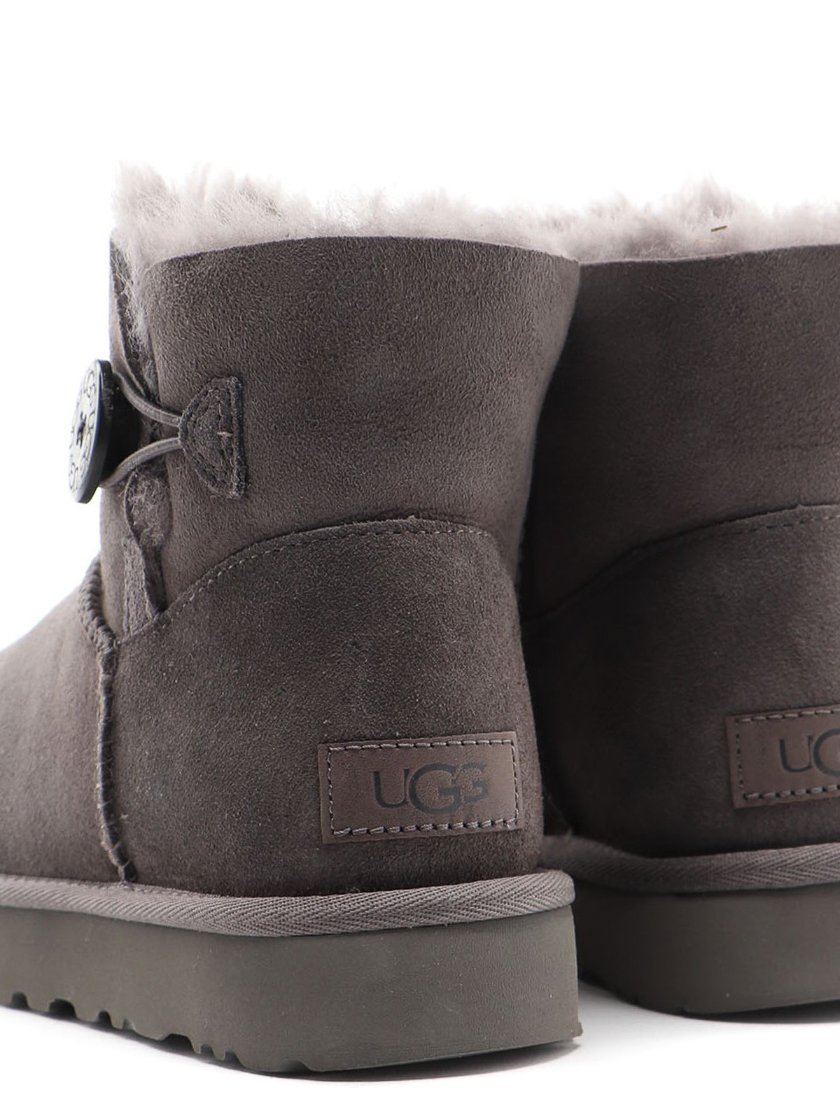 UGG Ankle Boots MINI BAILEY BUTTON Grey Logo grey