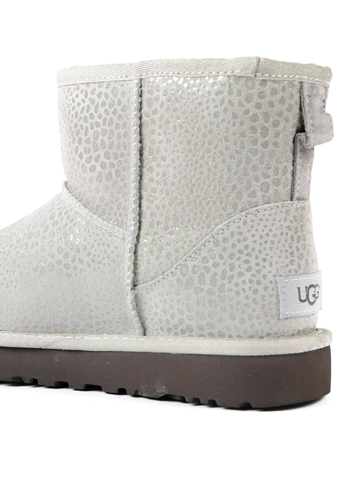 Mini Glitzy grey shiny booties shop online: UGG