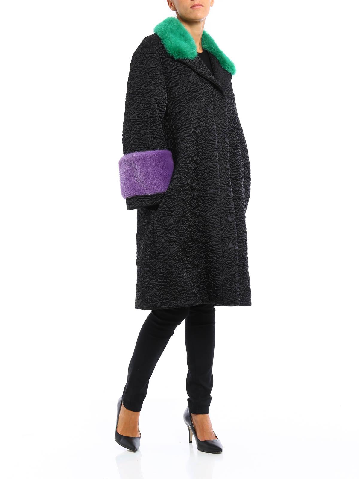 39182b316 Gucci - Mink fur detailed nylon coat - Fur & Shearling Coats ...