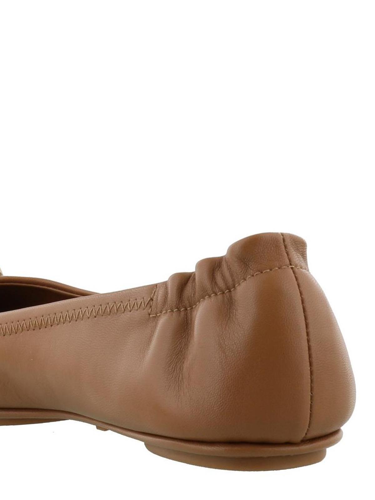 63a7877a64ffb3 Tory Burch - Minnie Travel ballet flats - flat shoes - 32880 232