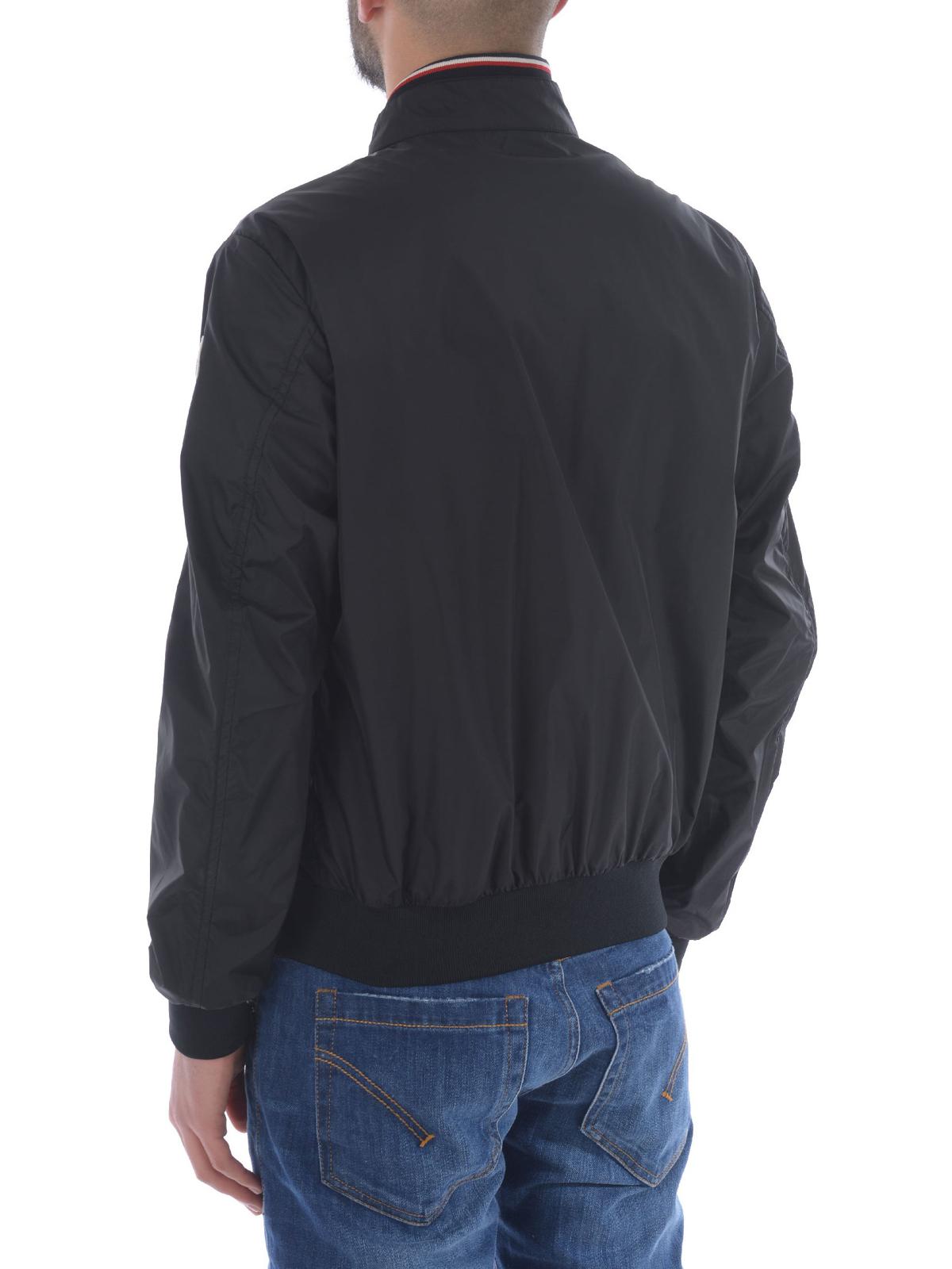 Bomber miroir in nylon nero moncler giacche bomber ikrix for Miroir online shop