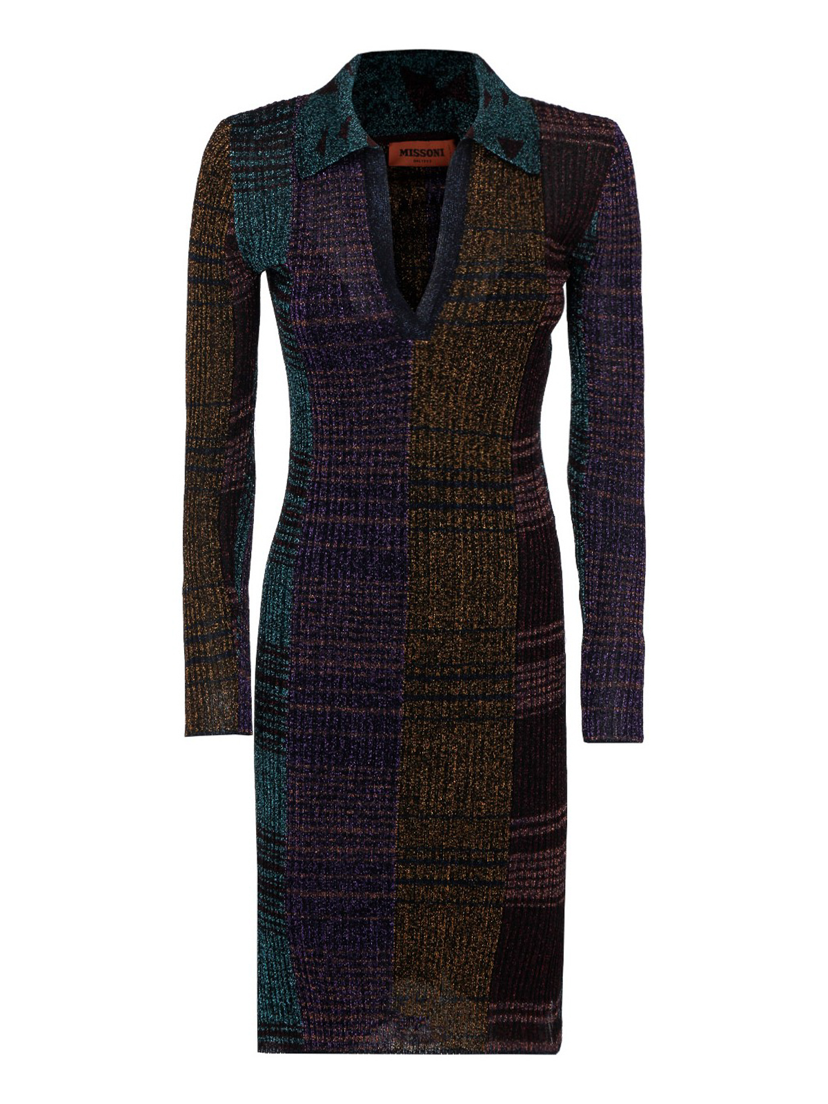 Missoni LUREX RIBBED DRESS