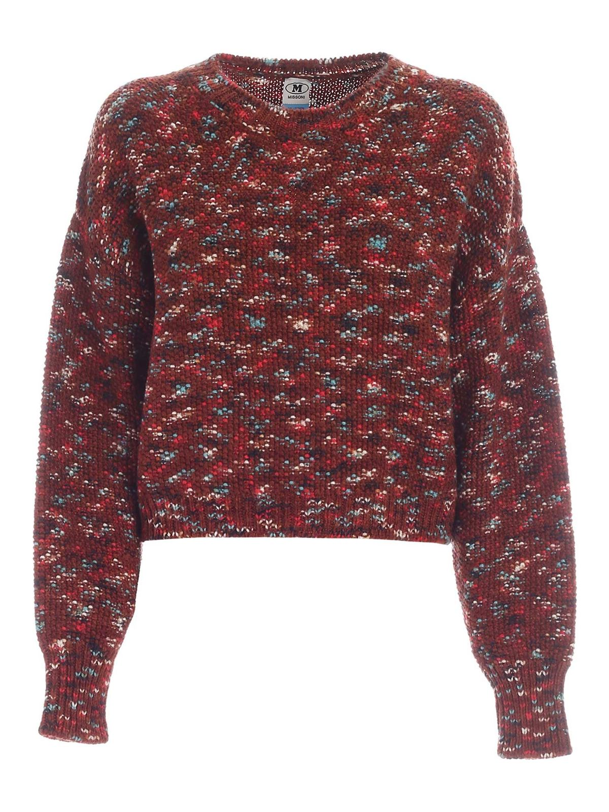 Missoni CREWNECK SWEATER IN COPPER COLOR