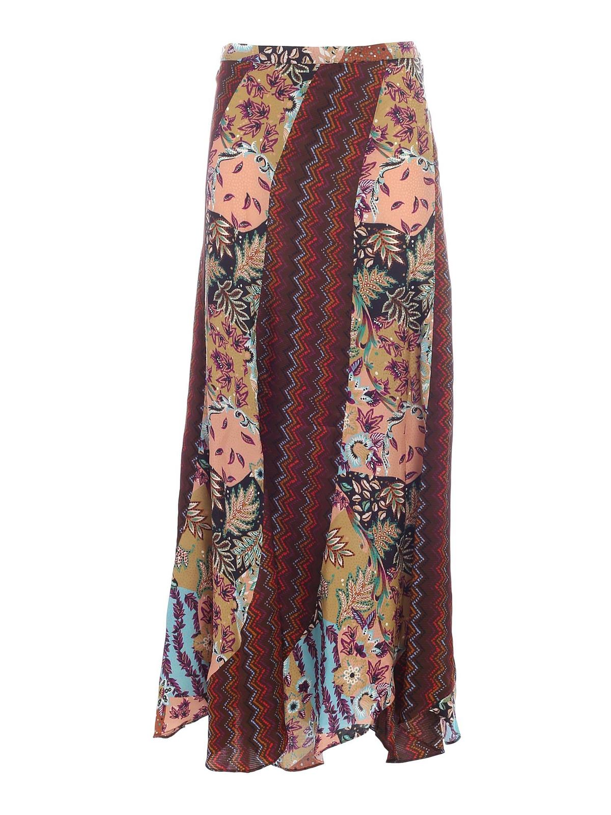 Missoni FLORAL PATTERN MULTICOLOR LONG SKIRT