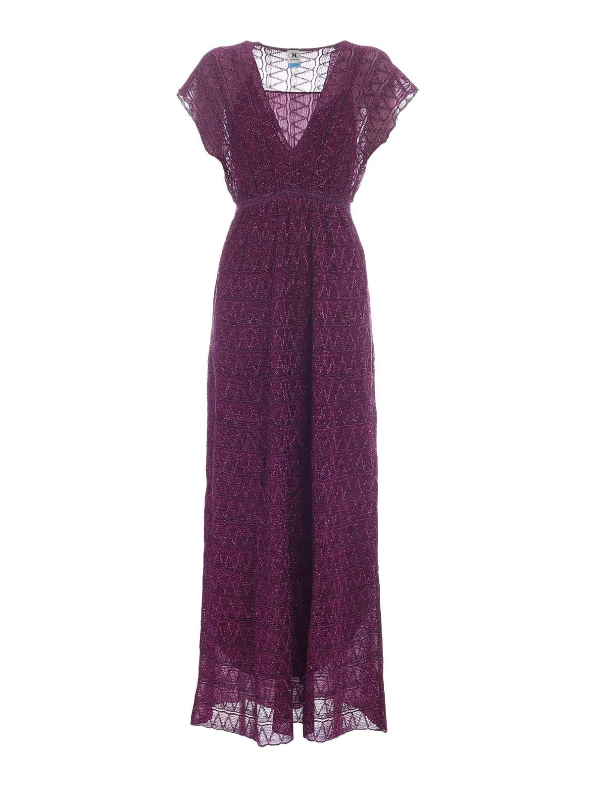 Missoni LONG LAME DRESS IN FUCHSIA