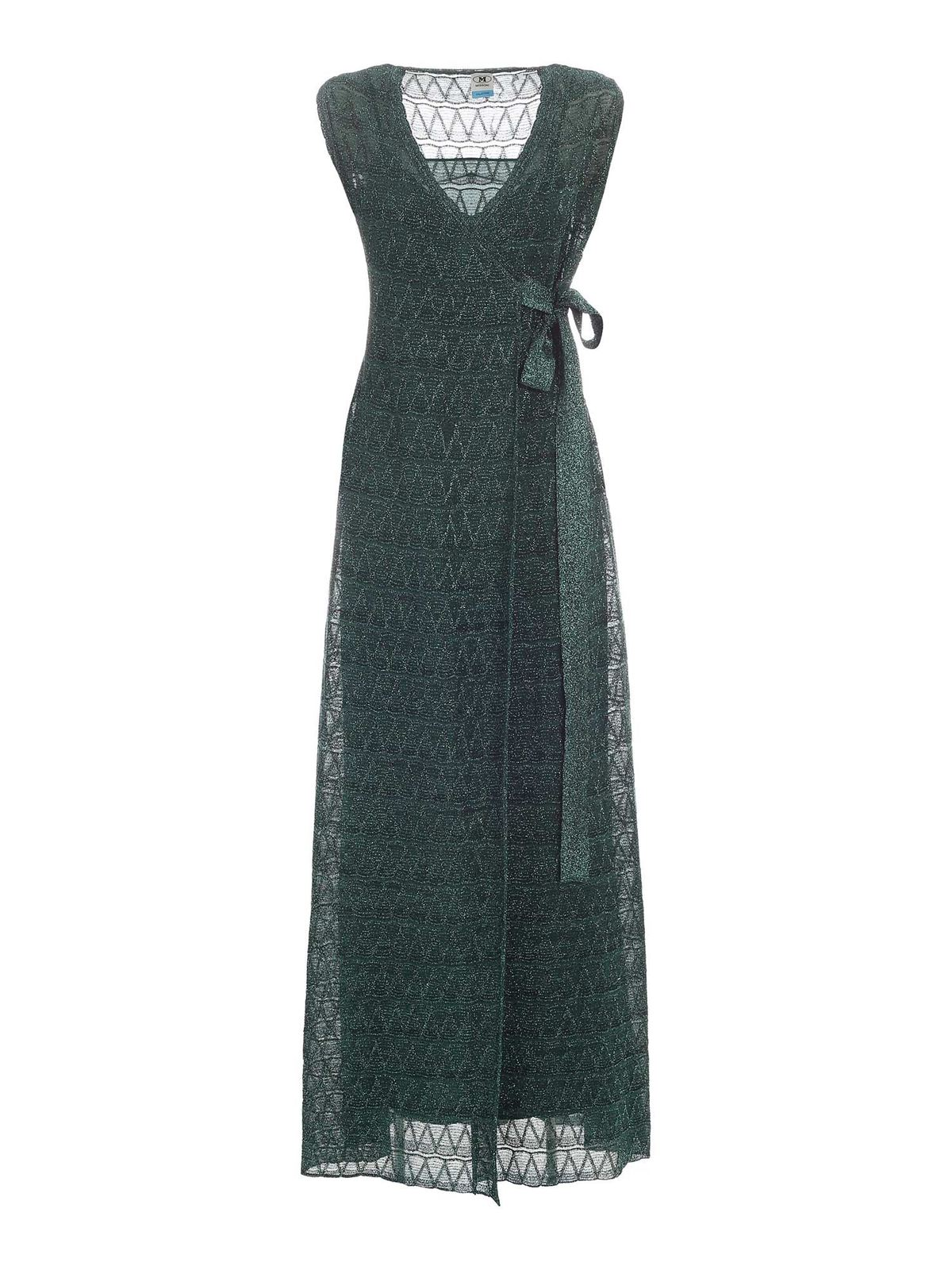 Missoni LONG LAME DRESS IN GREEN