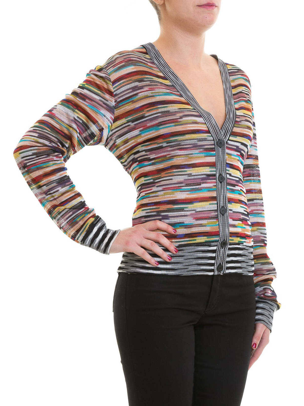 huge discount e0ac5 1a47a Missoni - Cardigan fantasia in maglia di viscosa - cardigan ...