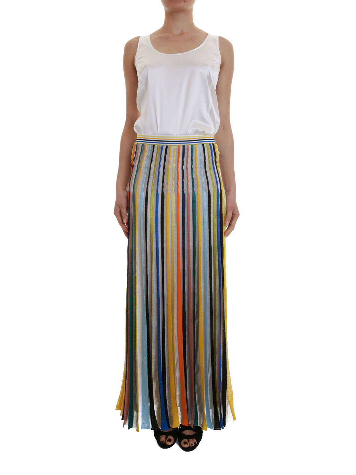 design senza tempo 1334f 173ee Missoni - Lunga gonna a pieghe - Gonne Lunghe - MD 194627 3680