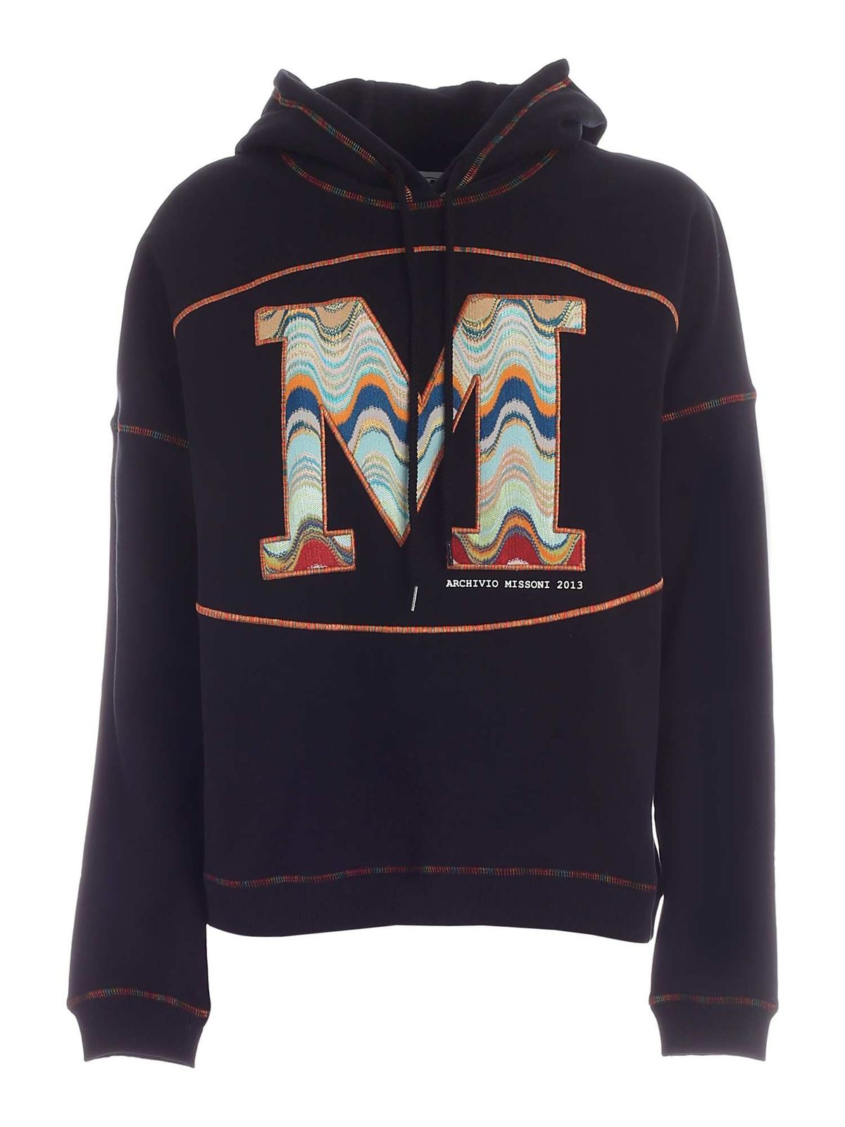 Missoni LOGO EMBROIDERY SWEATSHIRT IN BLACK