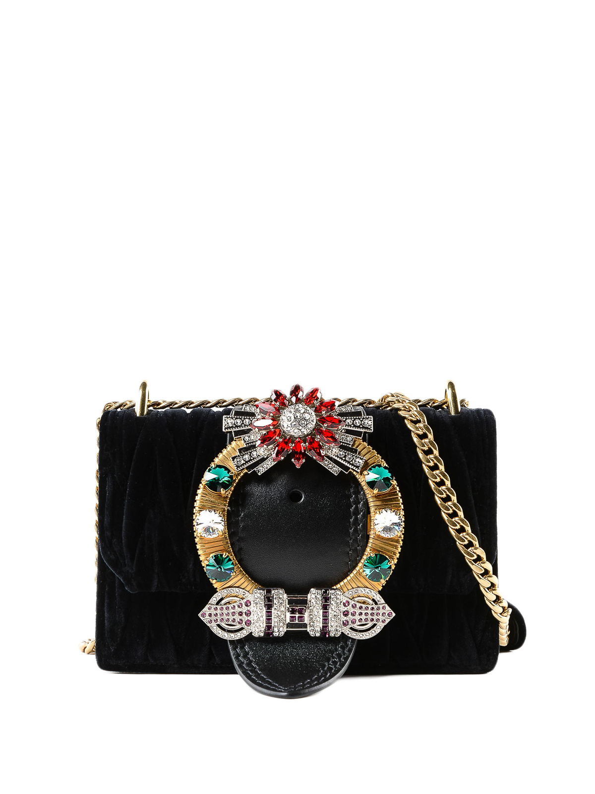 92070b99c483 Miu Miu - Lady velvet jewel cross body bag - cross body bags ...