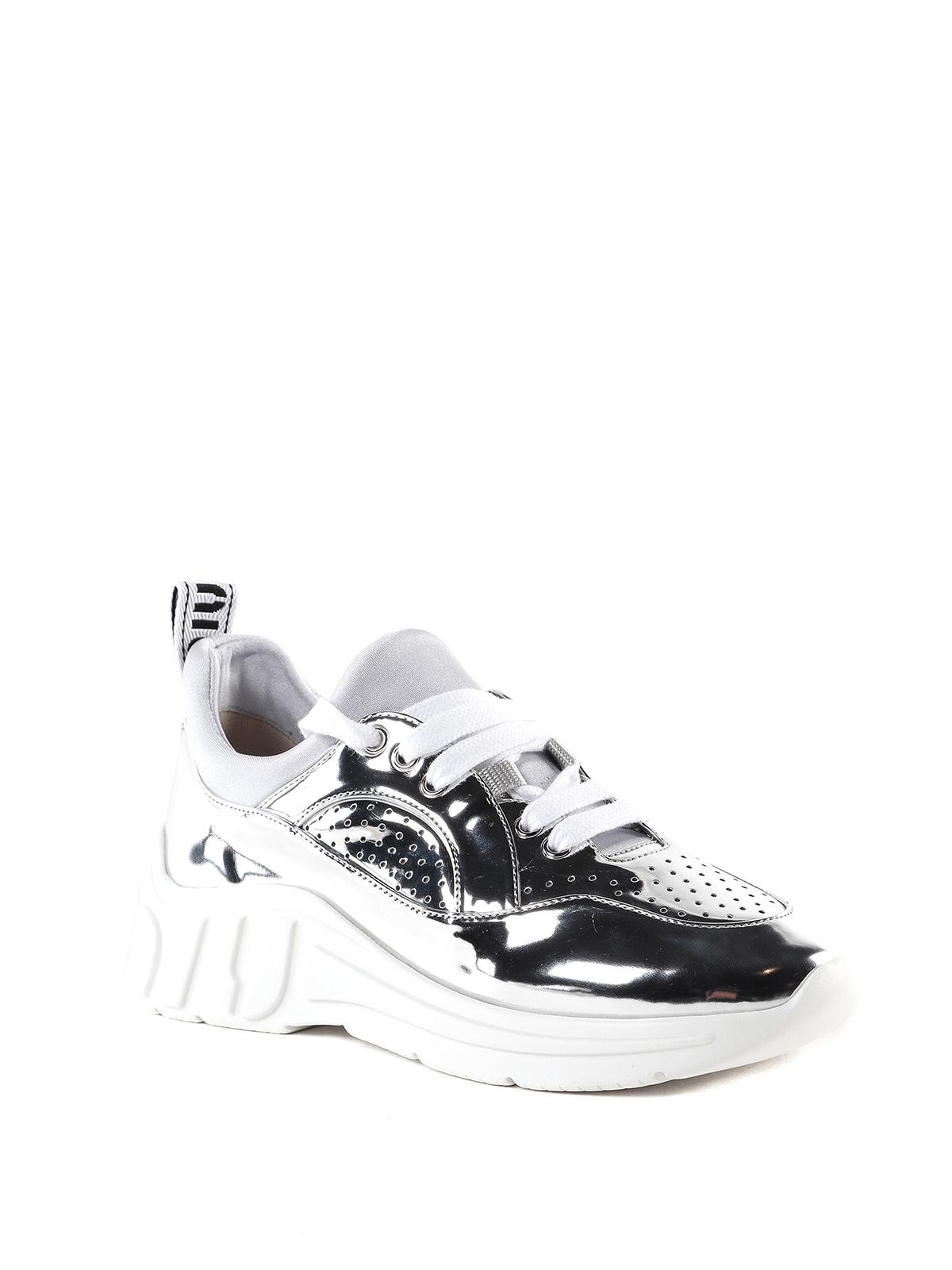 Miu Miu - Miu Run metal tech sneakers