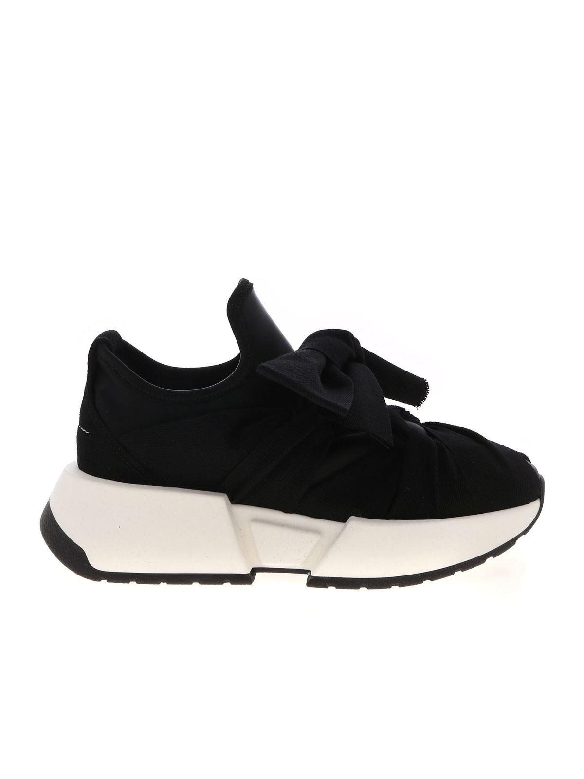 Mm6 Maison Margiela Sneakers BOW SNEAKERS IN BLACK