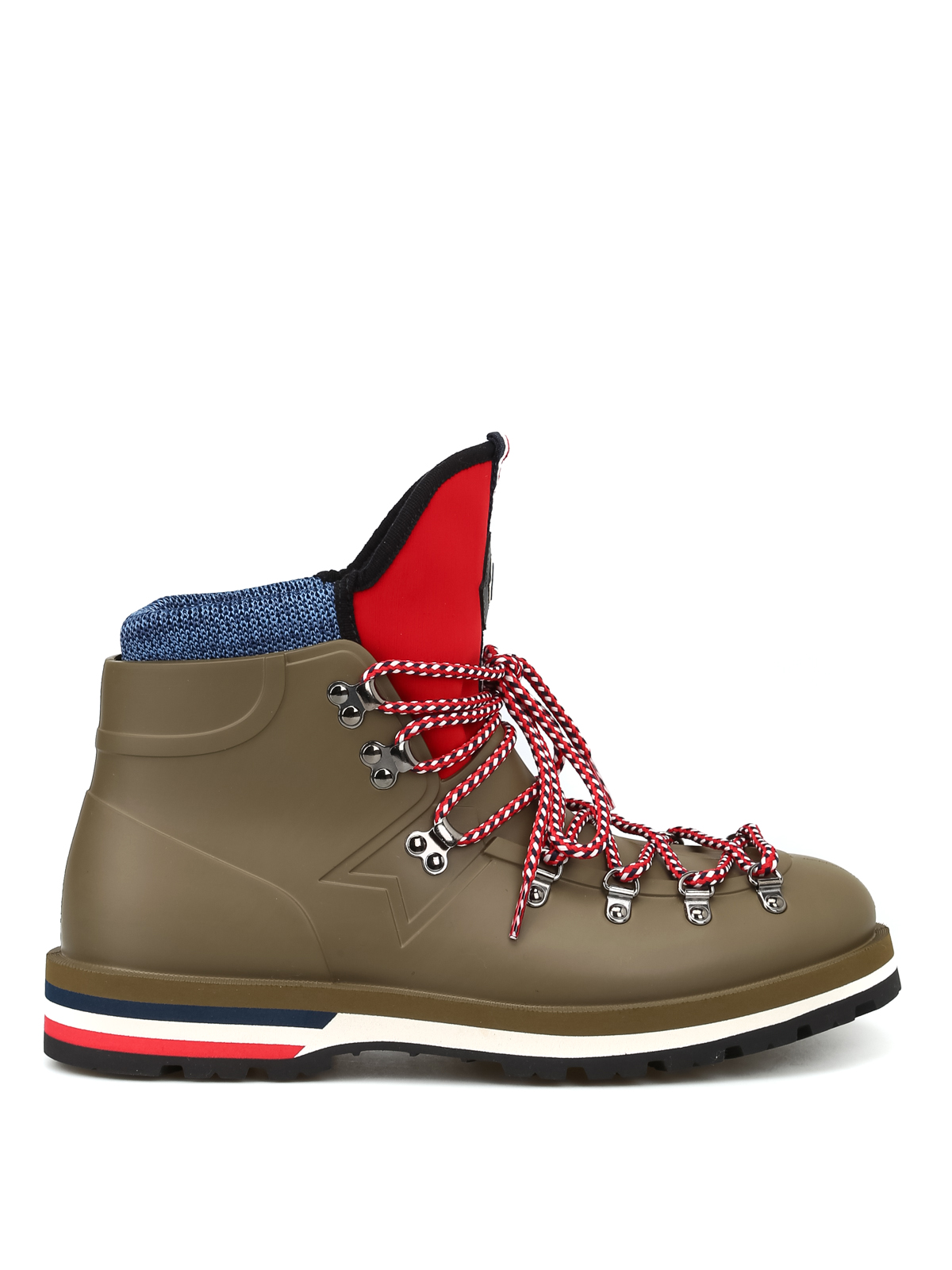 8437e254873 Moncler - Rubber lace-up Henoc hiking boots - ankle boots - D2 09A ...
